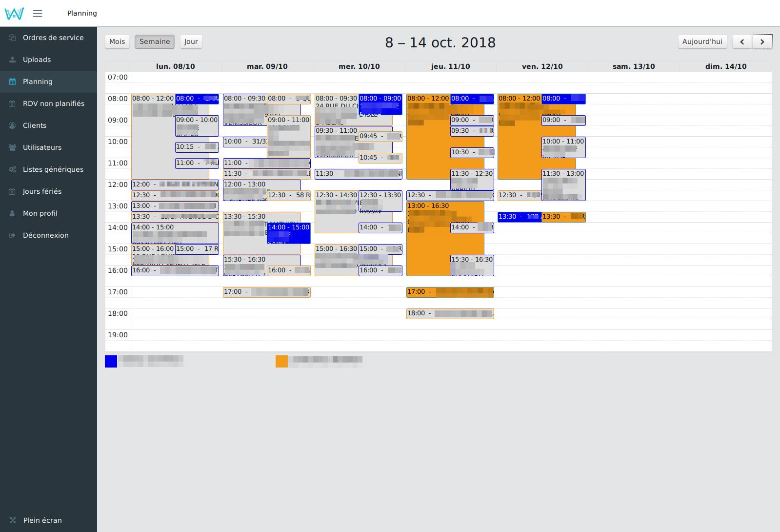 Planning partagé